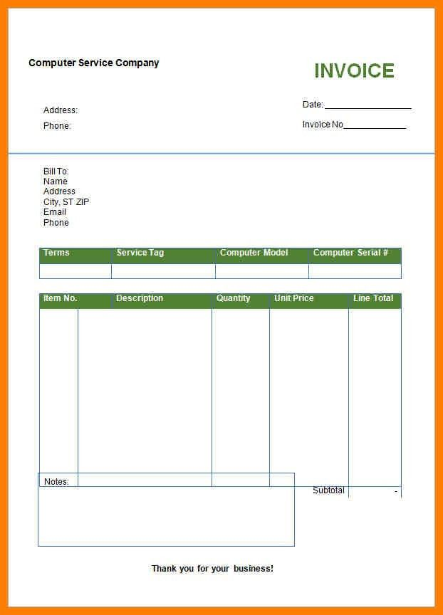 11+ blank invoice template word | lease template