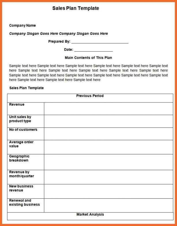 Sales Action Plan Template. sales action plan template 7 free ...