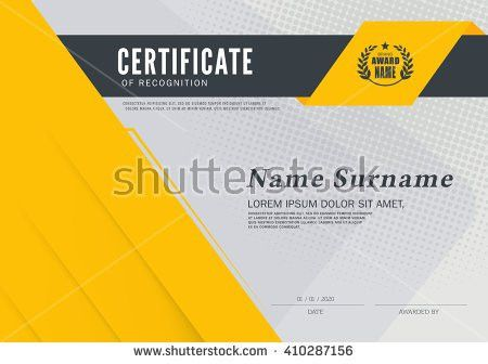 Certificate Design Template Layout Template A4 Stock Vector ...