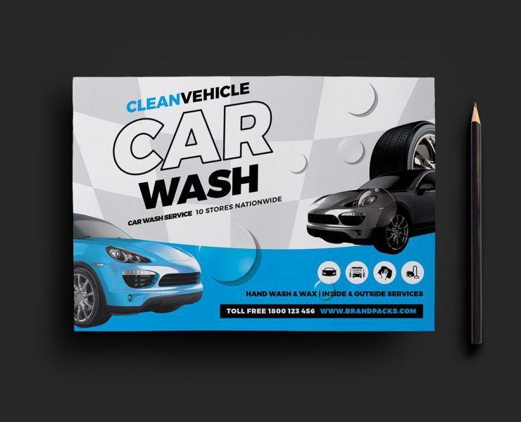 Car Wash Business Card Template for Photoshop & Illustrator ...
