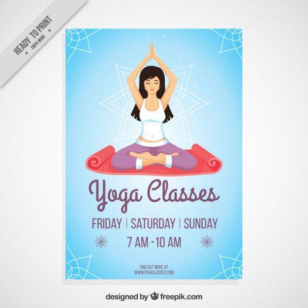 Yoga classes poster Vector   Premium Download
