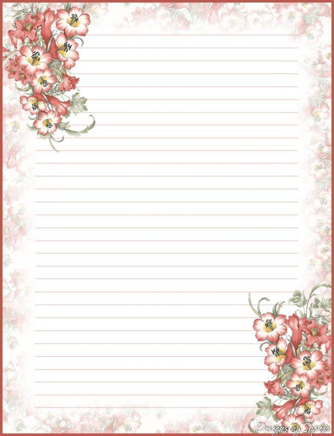My printable stationary Creations 2 - Sophia Designs PenPal ...