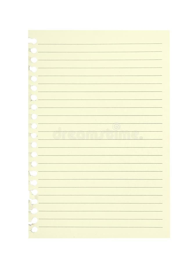 Sheet Of Lined Paper Torn From School Notebook. Blank. Stock Photo ...
