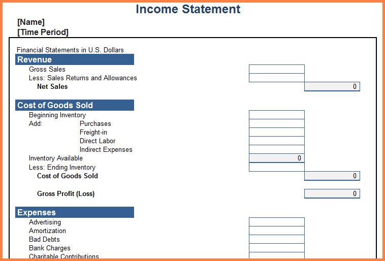 9+ personal income statement template | Statement Synonym