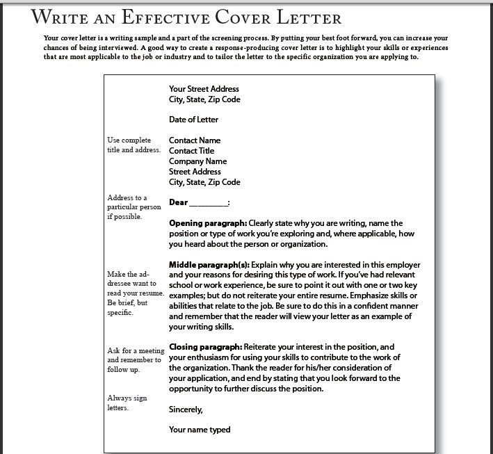writing a good cover letter tips for writing structuring writing ...