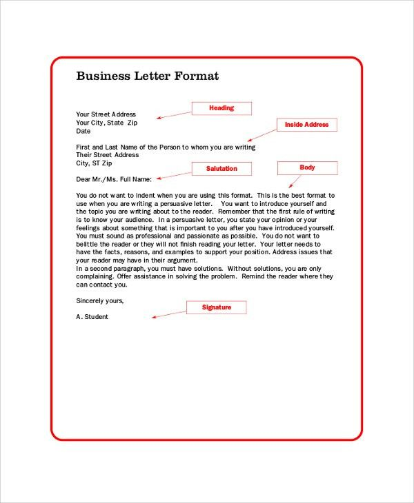 Formal Business Letter Format - 8+ Examples in PDF, Word