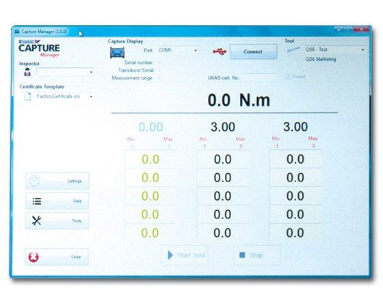 CAPTURE Manager. PC Software: manage data   Gedore-Torque