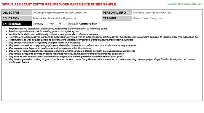 Assistant Editor Job Title Docs