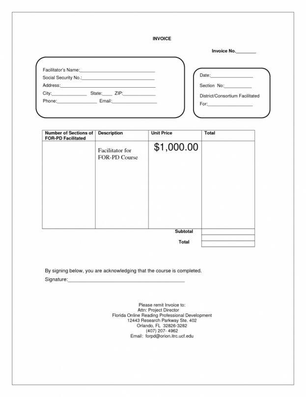 Blank Service Invoice : mughals