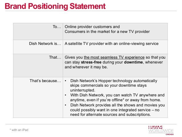 Dish Network Communications Plan - new brand positioning