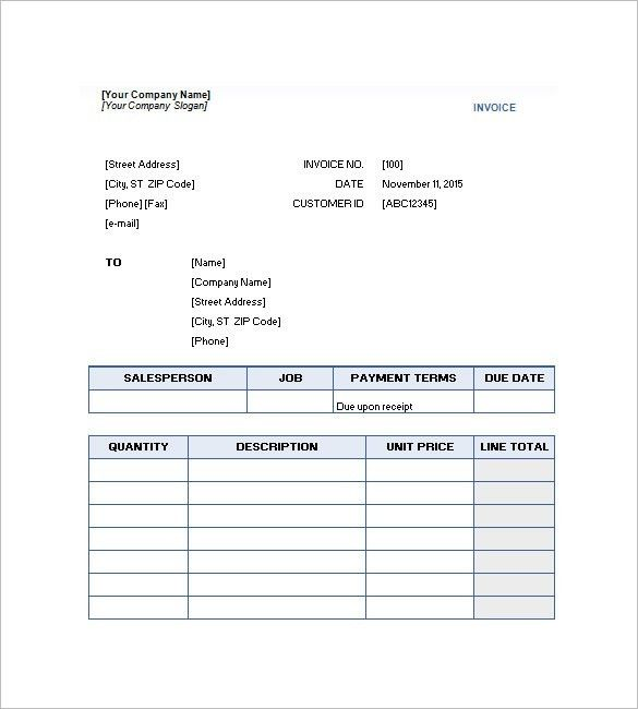 Service Invoice Template – 10+ Free Sample, Example, Format ...