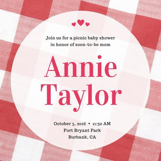 Picnic Blanket Baby Shower Invitation - Templates by Canva