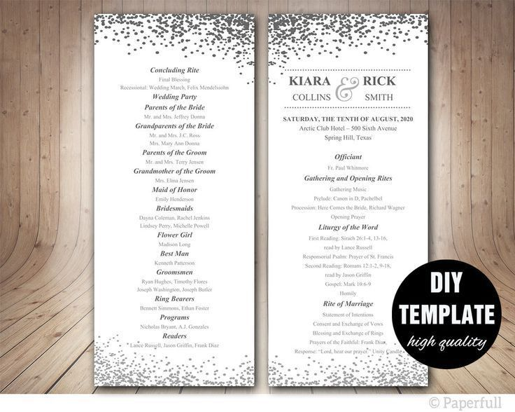 The 25+ best Wedding program templates ideas on Pinterest | Fan ...