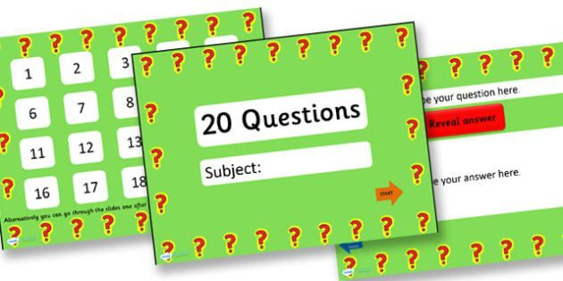 20 Questions Basic Adaptable PowerPoint Quiz Template - 20