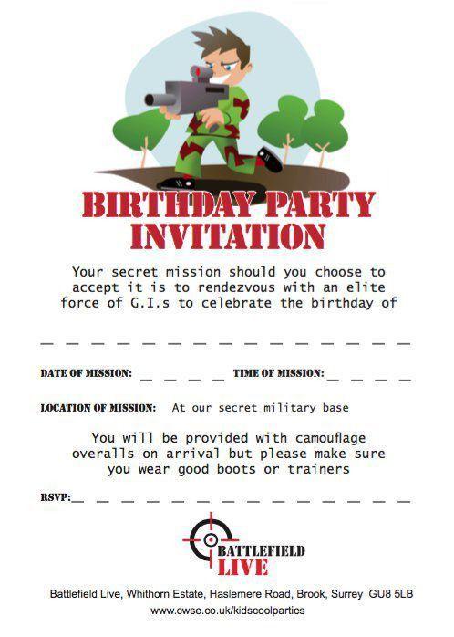 Free Birthday Party Invitation Templates – gangcraft.net