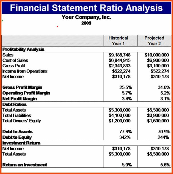 Personal Financial Statements Templates.analysis Of Financial ...