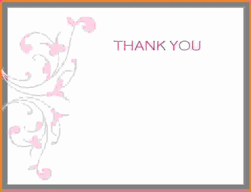 Thank You Card Template Word.Feminine Thank You Card Printable ...