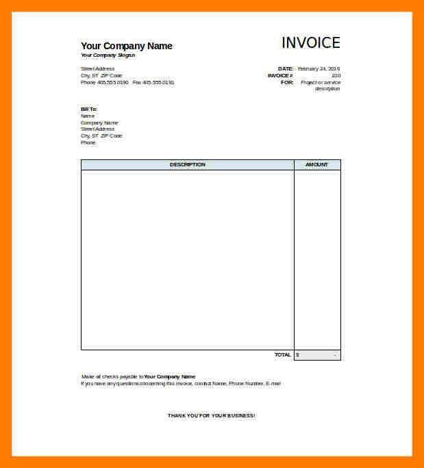 9+ blank invoice template excel | teller resume
