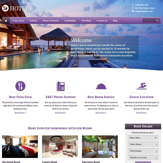 5 Star Hotel WordPress Theme - WPExplorer