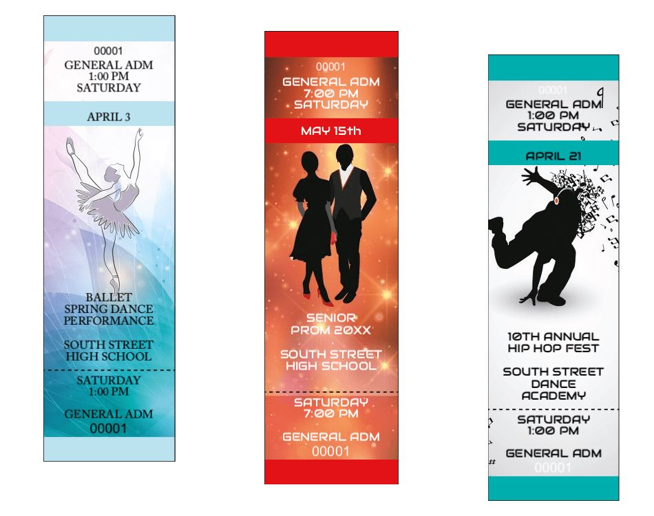 Featured Product: New Dance Recital Ticket DesignsEvent Ideas from ...