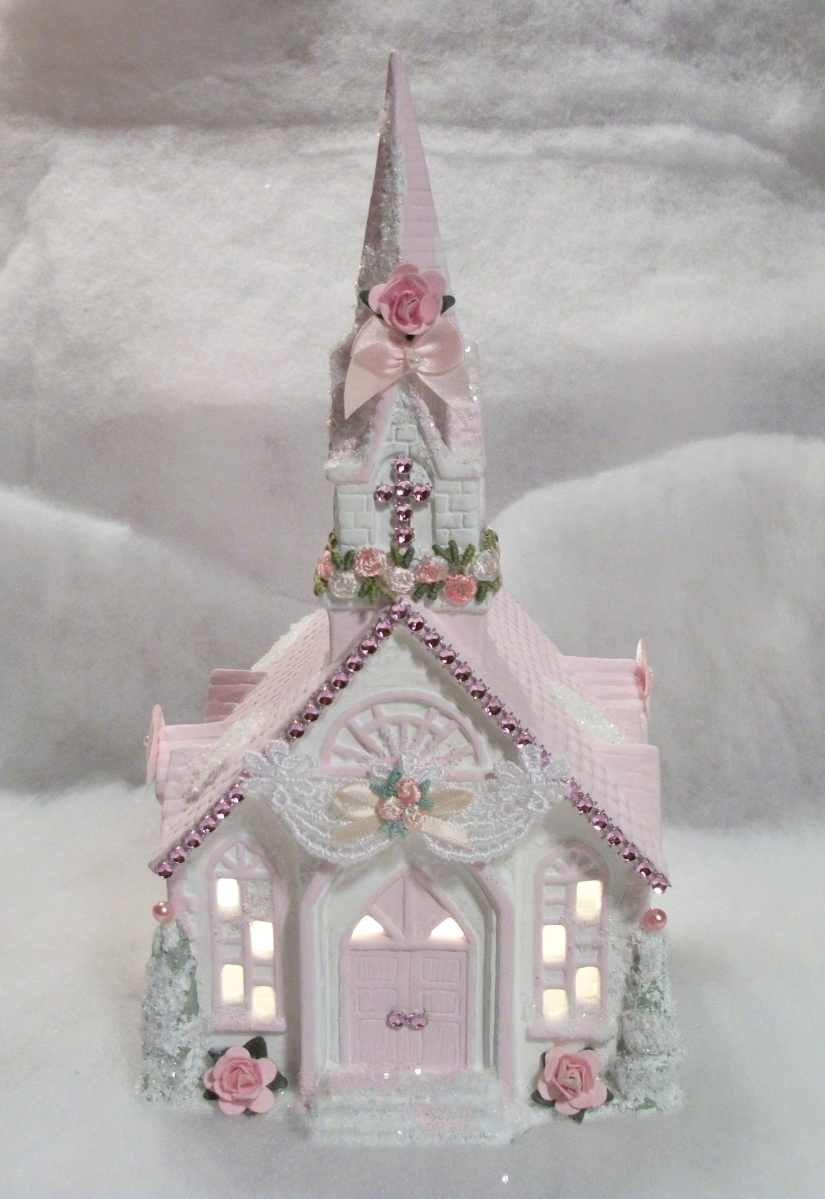1000 images about pink christmas on pinterest for Shabby chic christmas
