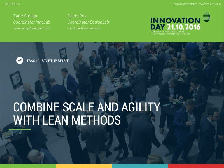 1.3 combine scale & agility to innovate with lean methods zane …