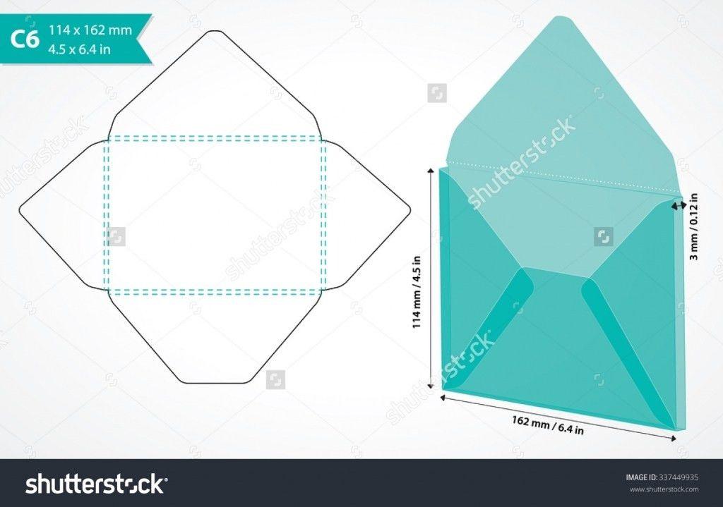 dl envelope die cut template   premier scrapbook design