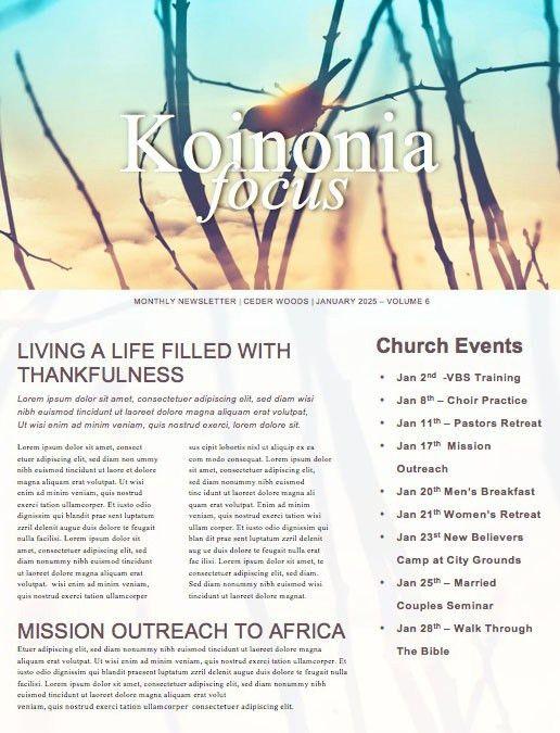 Fruit Church Newsletter Template | Newsletter Templates