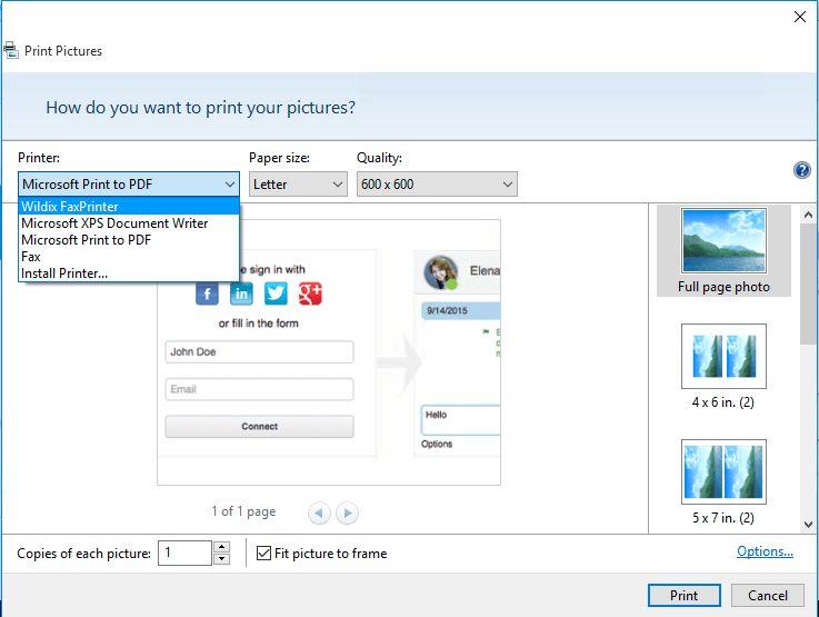 Fax Printer for Microsoft Windows / Mac OS X - Wildix Manuals