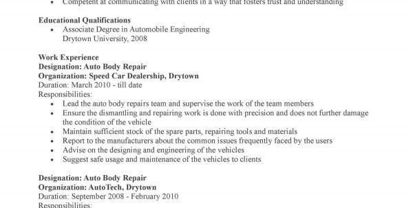 sample resume mechanic photo sample resume for software tester ...