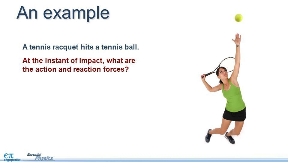 Newton's third law. Forces always come in pairs. If one object ...