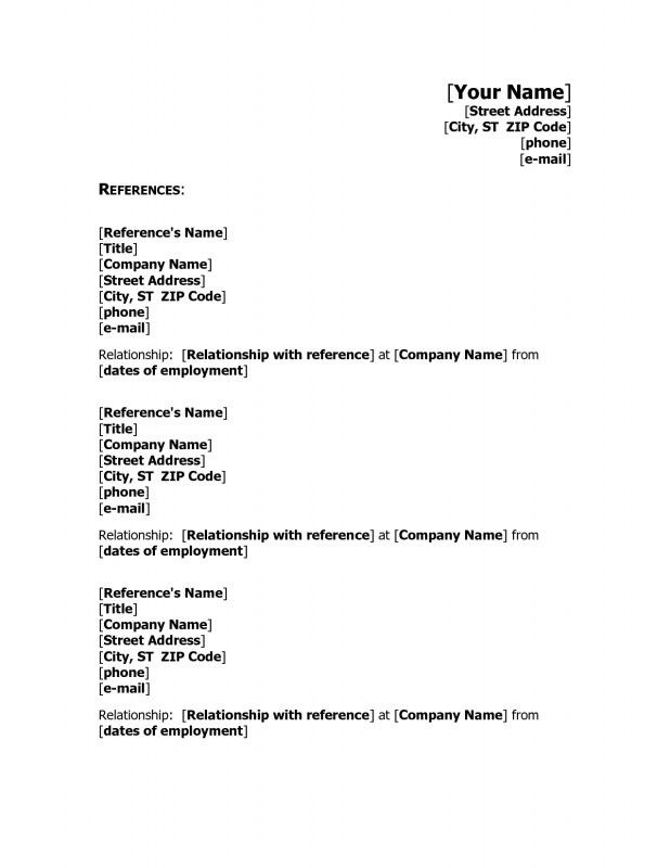 references resume template reference template for resume resume