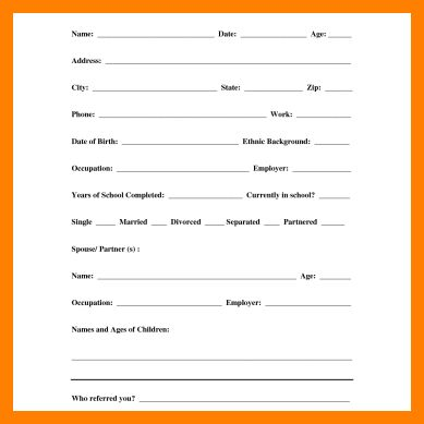 4+ customer info sheet | care giver resume