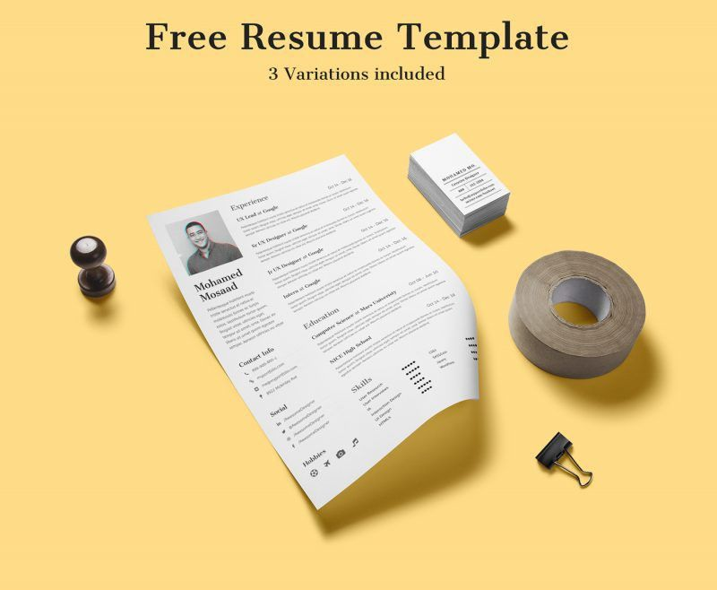25 Free Resume Templates for Your Next Application | Inspirationfeed