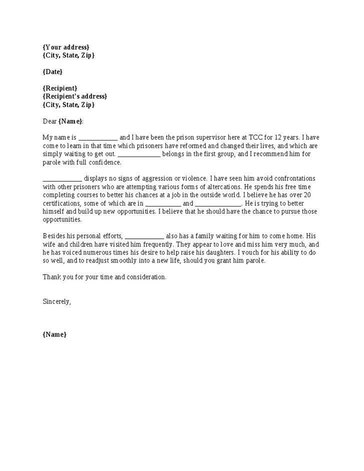 Parole Agent Cover Letter
