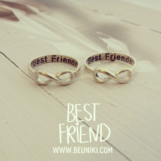 SILVER BEST FRIENDS RINGS I WANT THEM | Things I want | Pinterest ...