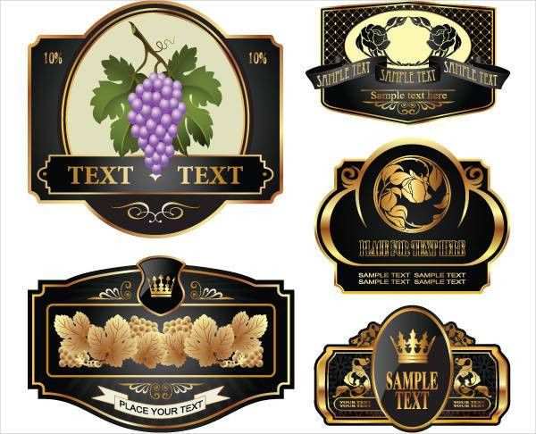8+ Wine Bottle Label Templates - Design, Templates | Free ...