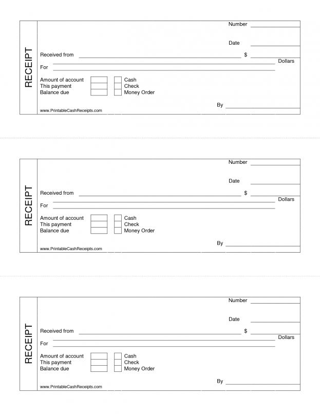 Printable Cash Receipt Template Product Label Sample Credit Memo ...