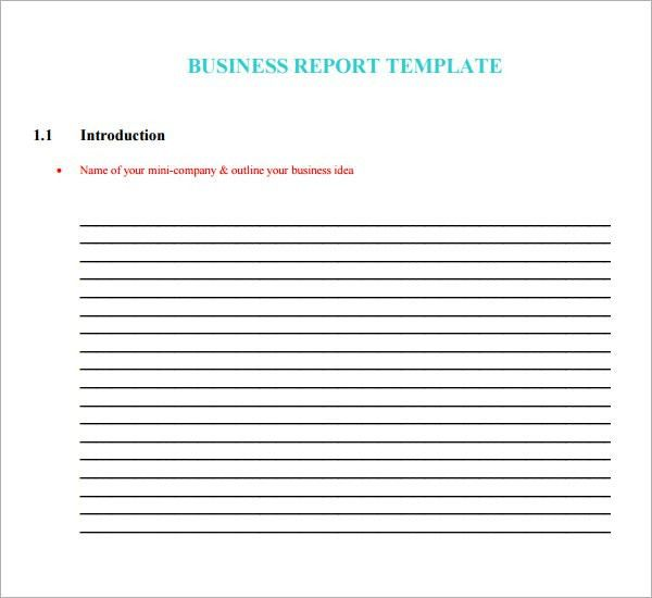 Sample Business Report Template - 8+ Documents Download in PSD ...