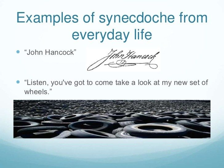 Synecdoche and metonymy