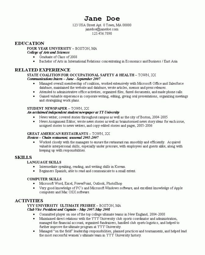 Sweet-Looking College Resume Builder 16 Student Resume Creator For ...