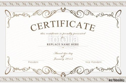 Certificate border, Certificate template. vector illustration ...