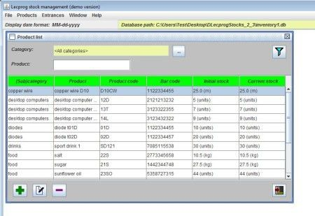 Free Inventory Management Software: Lecprog Stock Management