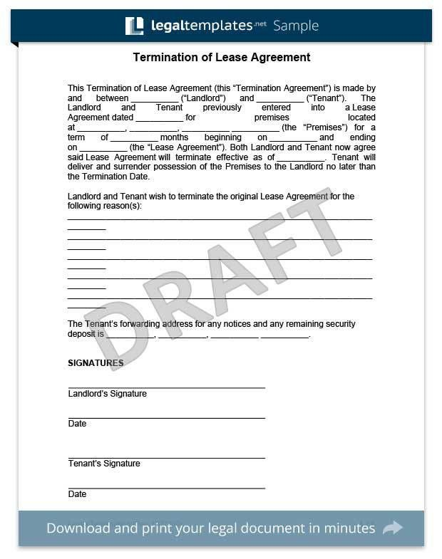 ohio lease termination letter form 30 day notice eforms free ...