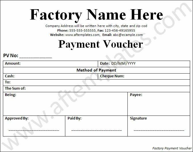 payment voucher template microsoft word