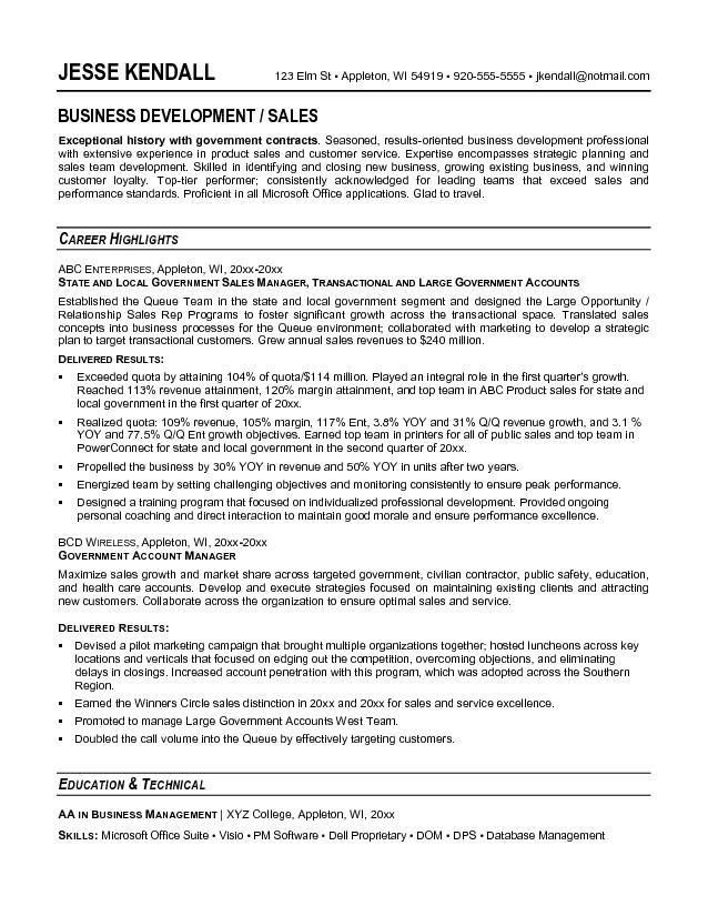 job resume sample government resume format http www resumecareer ...