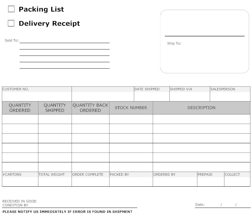 9 Best Images of Simple Delivery Receipt Form Template Free ...