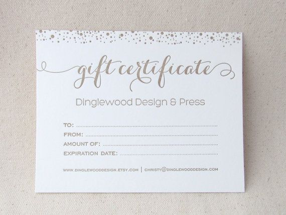 23 best gift certificate images on Pinterest | Gift vouchers, Gift ...