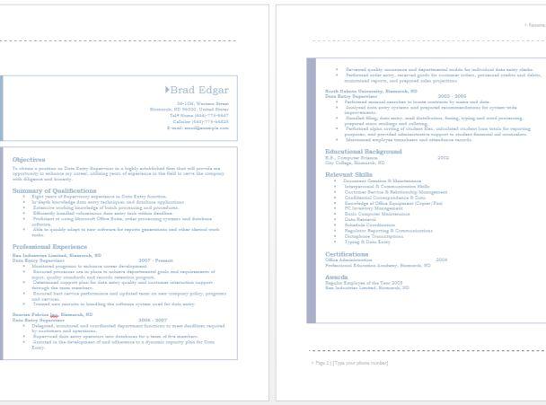 Data Entry Supervisor Resume – Sample Resumes