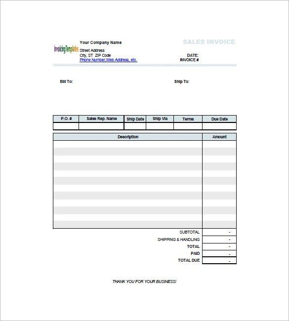 Retail Invoice Template - 8+ Free Word, Excel, PDF Format Download ...